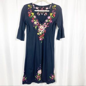 Johnny Was LA Floral Embroidered Dress